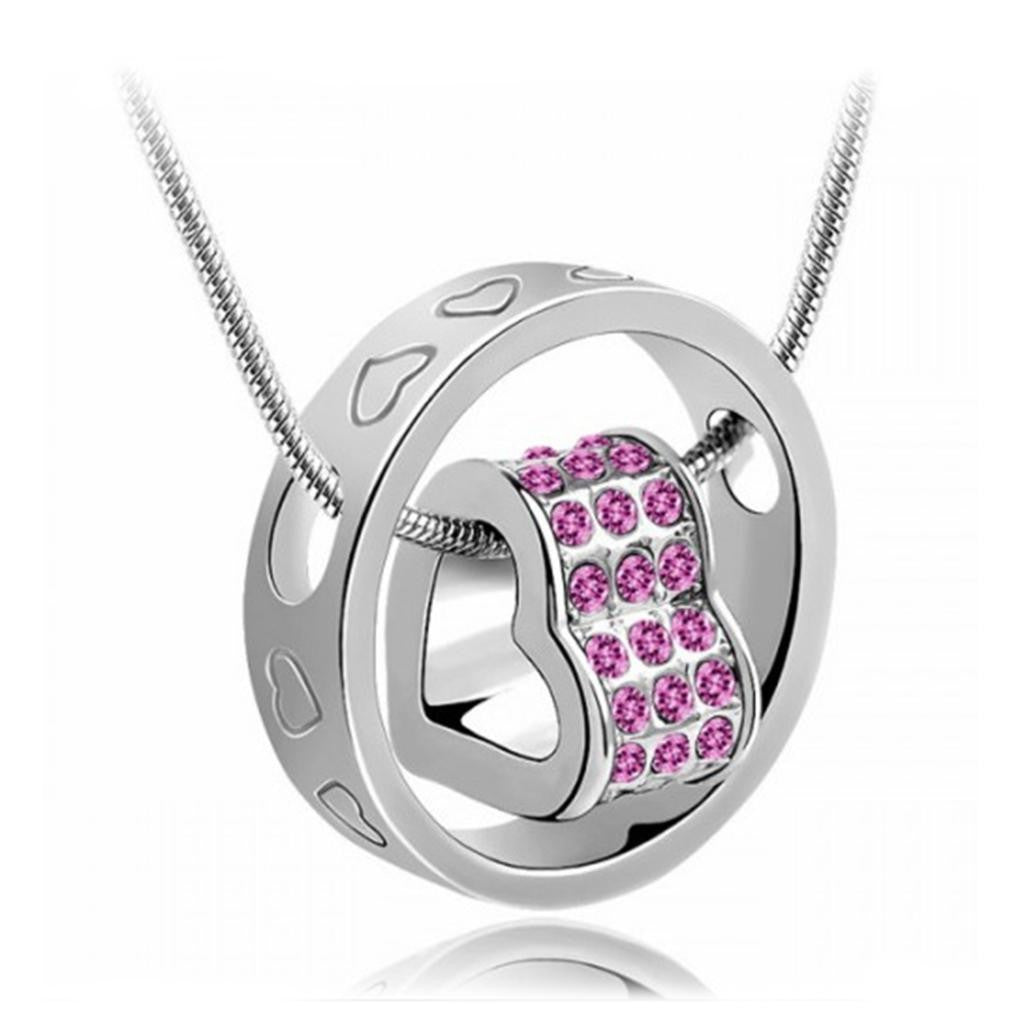 Beautiful crystal heart pendant necklace great gifts store beautiful crystal heart pendant necklace aloadofball Images