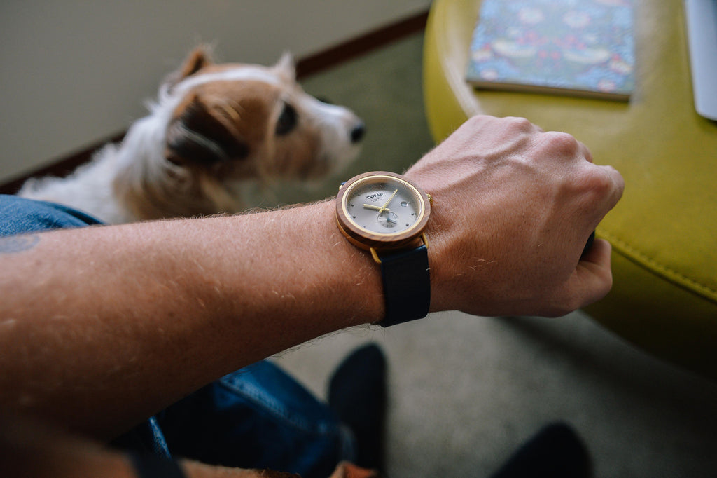 Tense Watches - The Hudson Leather Watch in Teak Wood