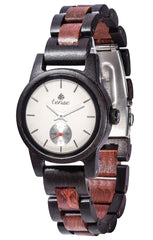Tense Watches - Small Hampton in Dark Sandalwood and Rosewood
