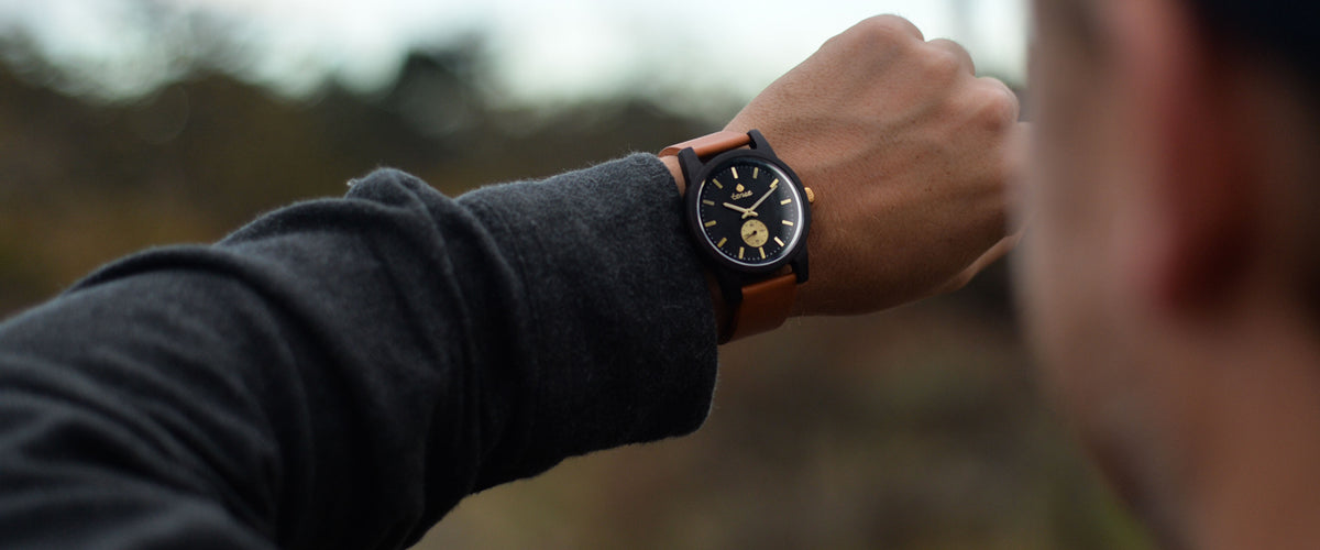 Tense Wood Watches - Leather Hampton