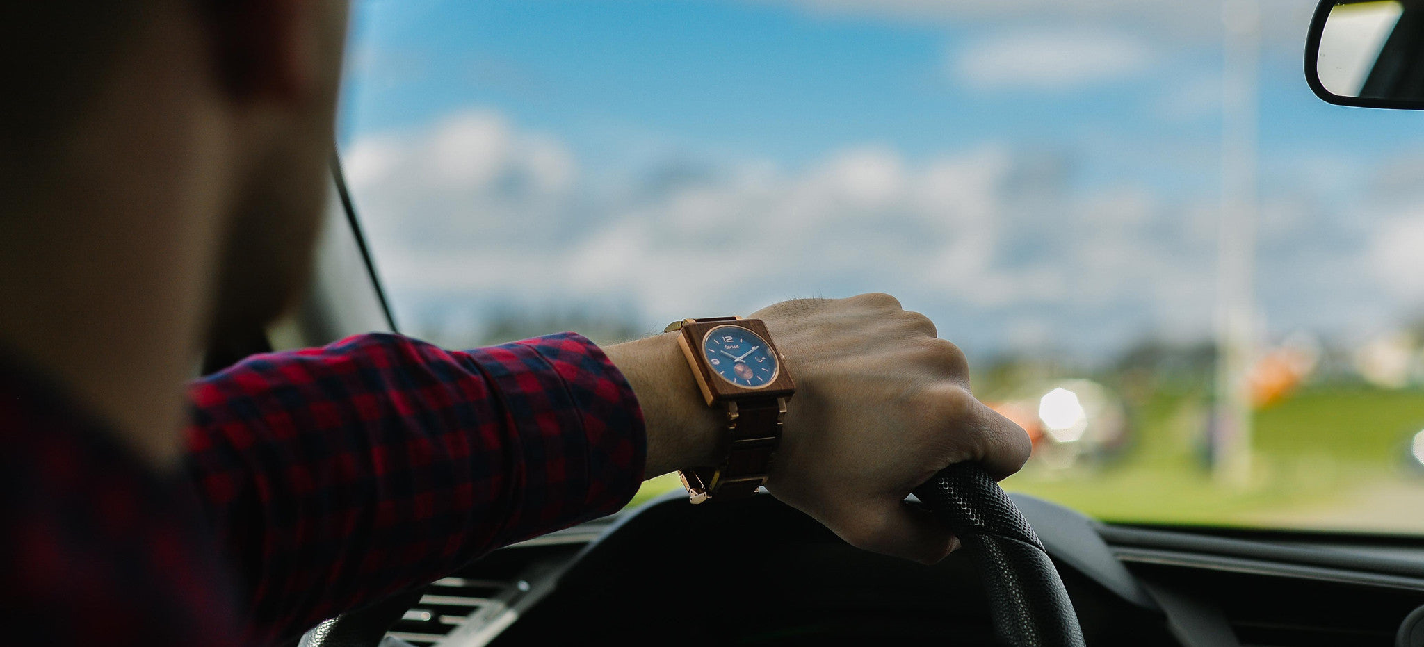 Tense Watches Vermont Watch in Rosewood and Rose Gold