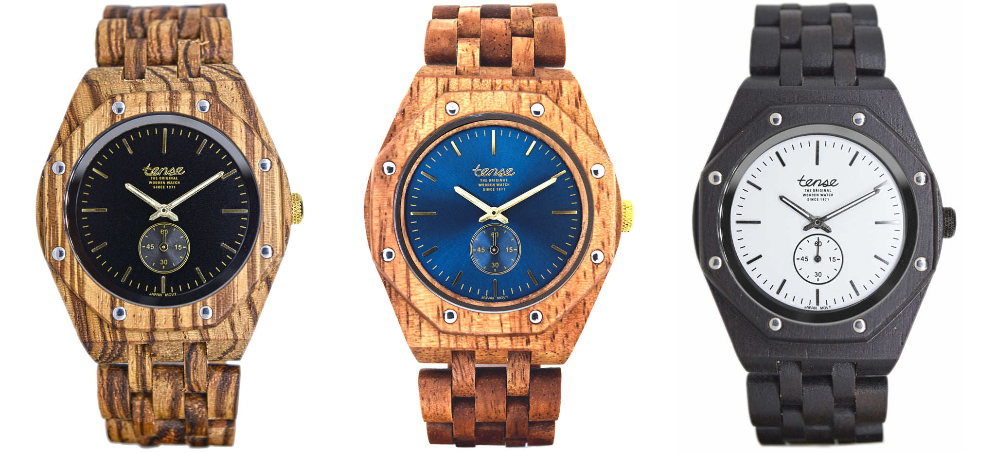Tense Wooden Watches - The Washington North