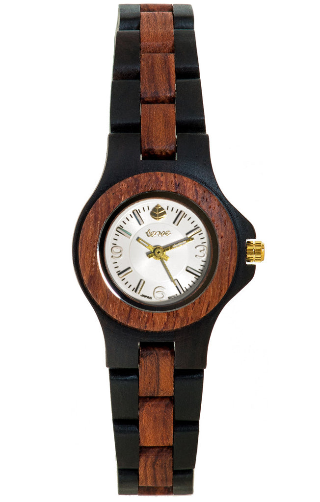 Dark Sandalwood/Rosewood/White Dial