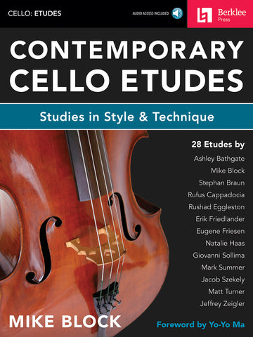 Block - Contemporary Cello Etudes: Studies in Style and Techniques - Cello Method
