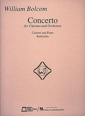 Bolcom – Concerto for Clarinet and Orchestra – Clarinet and Piano