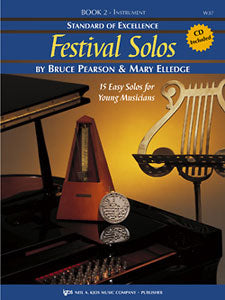 Pearson and Elledge - Standard of Excellence: Festival Solos, Book 2 (w/CD) - Baritone T.C.