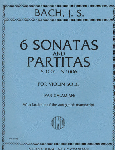 Bach, ed. Galamian - Six Sonatas and Partitas, S. 1001-1006 - Violin Solo