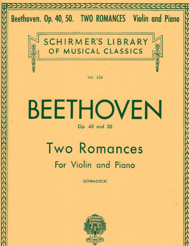 Beethoven, ed. Schradieck - Two Romances, Ops. 40 and 50 - Violin and Piano