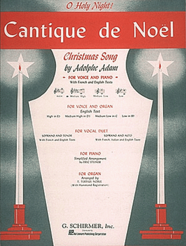 Adam, ed. Deis - Cantique de Noel (Db Major) - Medium-High Voice and Piano