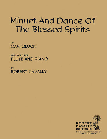 Gluck, arr. Cavally - Minuet and Dance of the Blessed Spirits - Flute and Piano