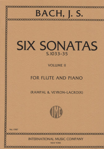 Bach, eds. Rampal and Veyron-LaCroix - 6 Sonatas, Vol. 2: S.1033-35 - Flute and Piano