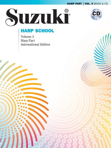 Suzuki Harp School, Vol. 5 (w/CD) - Harp Method
