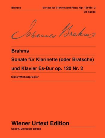 Brahms, arr. Michaels - Sonata Op. 120 No. 2 - Clarinet (or Viola) and Piano