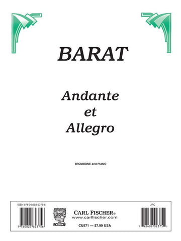 Barat - Andante et Allegro - Trombone and Piano