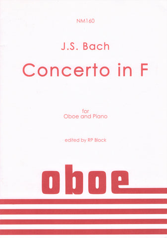 Bach, ed. Block - Concerto in F - Oboe and Piano