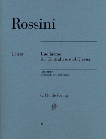 Rossini - Une Larme - Contrabass and Piano