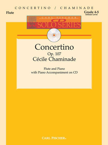 Chaminade - Concertino, Op. 107 (w/CD) - Flute and Piano
