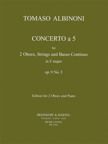 Albinoni - Concerto a 5 - 2 Oboes and Piano