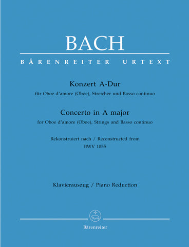 Bach, ed. Fischer- Concerto in A Major, BWV. 1055 - Oboe and Piano