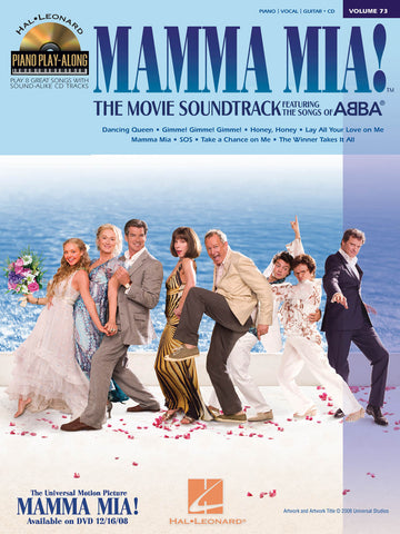 ABBA – Hal Leonard's Piano Play Along Vol. 73: Mamma Mia! The Movie – Piano, Vocal, Guitar