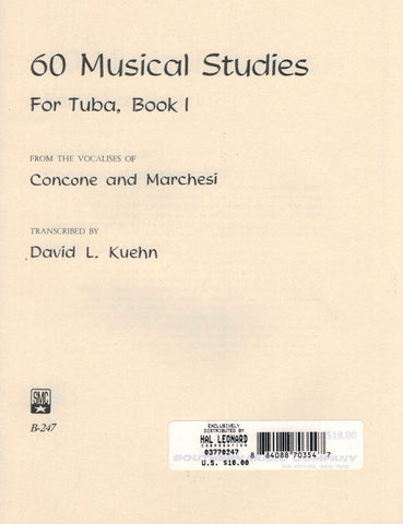 Concone and Marchesi, arr. Kuehn - 60 Musical Studies, Vol. 1 - Tuba Method