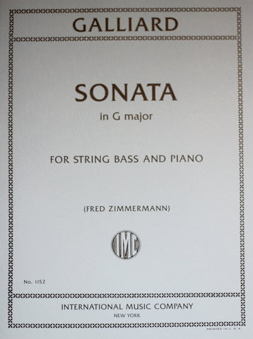Galliard - Sonata in G major (Sonata in F major, transposed to G major)- Contrabass and Piano
