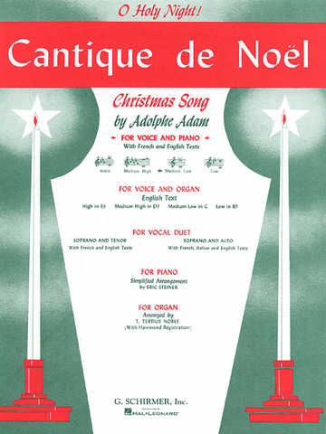 Adam, ed. Deis - Cantique de Noel (C Major) - Medium-Low Voice and Piano