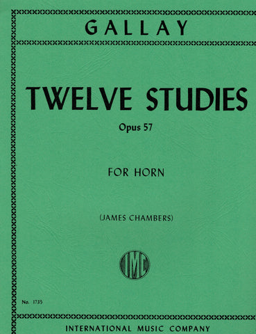 Gallay, ed. Chambers - Twelve Studies, Op. 57 - Horn Method