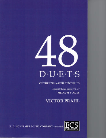 arr./ed. Prahl - 48 Duets of the 17th to 19th Centuries - Medium Voice