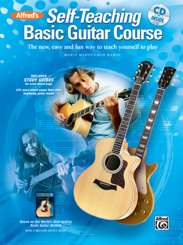 Alfred's Self-Teaching Basic Guitar Course (w/CD) - Guitar Method