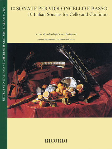Fertonani, ed. - 10 Italian Sonatas - Cello and Basso (Double Bass)