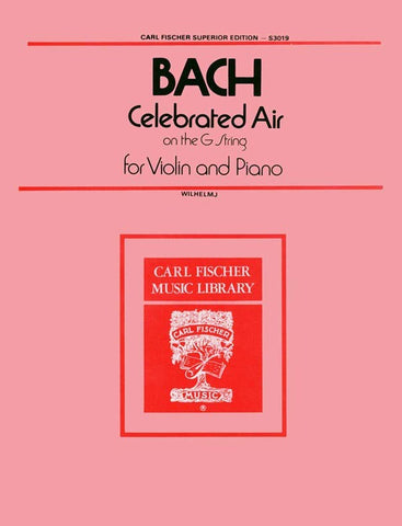 Bach - Celebrated Air on the G String - Violin and Piano