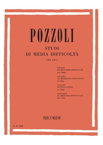 Pozzoli - Studies of Moderate Difficulty - Harp Method