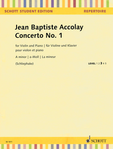 Accolay - Violin Concerto No. 1 in A Minor - Violin and Piano