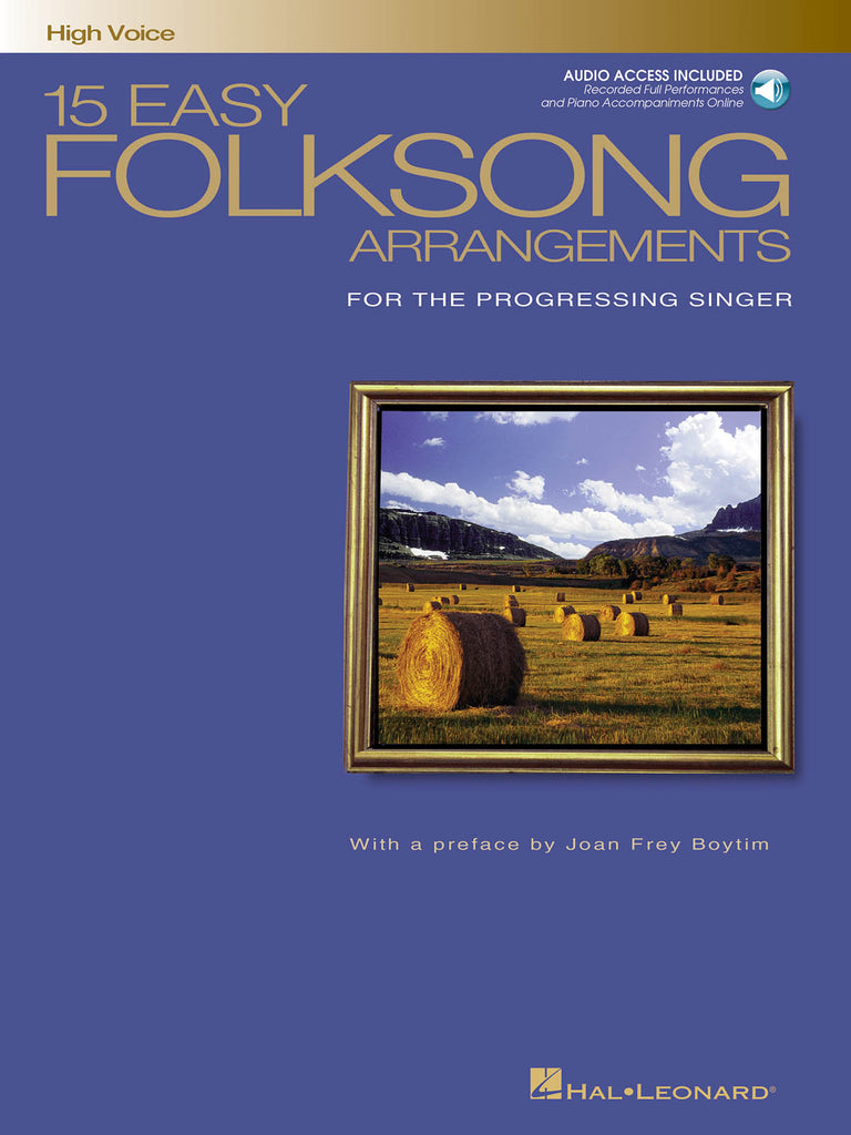 Various – 15 Easy Folksong Arrangements – High Voice and Piano