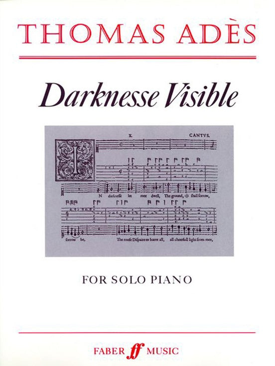 Ades – Darknesse Visible – Piano