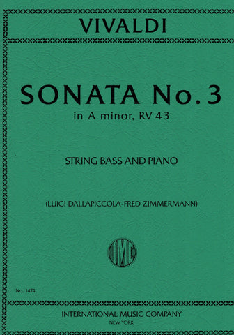 Vivaldi, eds. Dallapiccola and Zimmermann - Sonata No. 3 in A Minor, RV. 43 - Contrabass and Piano