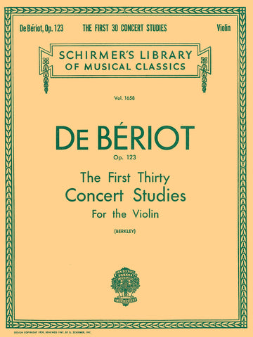 Beriot - First 30 Concert Studies - Violin Method