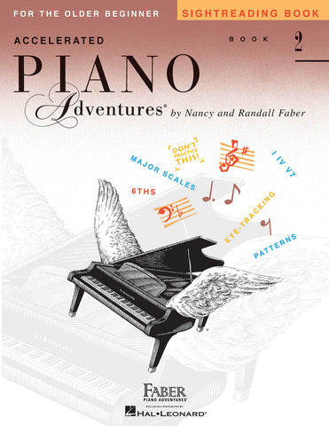 Accelerated Piano Adventures for the Older Beginner - Book 2: Sightreading - Piano Method