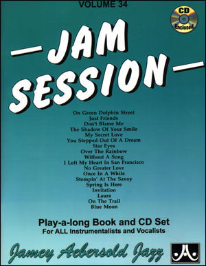 Aebersold - Jam Session, Vol. 34 - Jazz play-a-long (w/2CDs) - Multiple Instruments