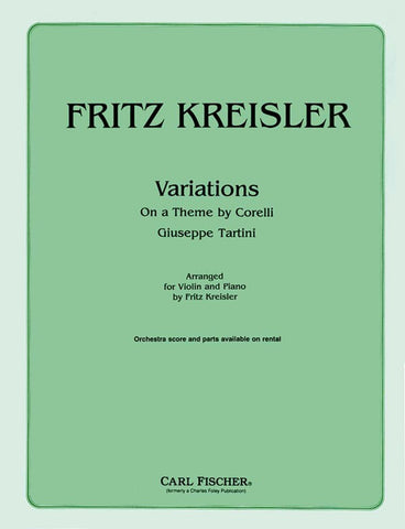 arr. Kreisler - Variations on a Theme by Corelli in the Style of Tartini - Violin and Piano
