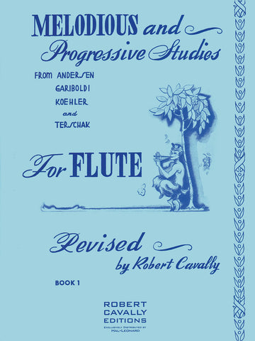 Cavally, ed. - Melodious and Progressive Studies for Flute, Book 1 - Flute/Piccolo Method