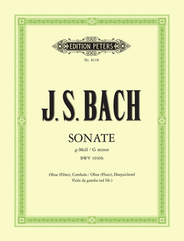 Bach, ed. Meylan - Sonata in G Minor - Oboe (Flute) and Piano