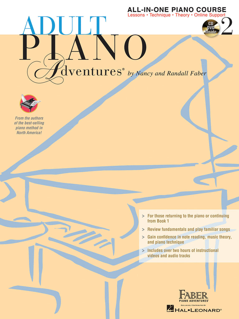 Adult Piano Adventures All-in-One: Lesson Book 2 (w/CD) - Piano Method