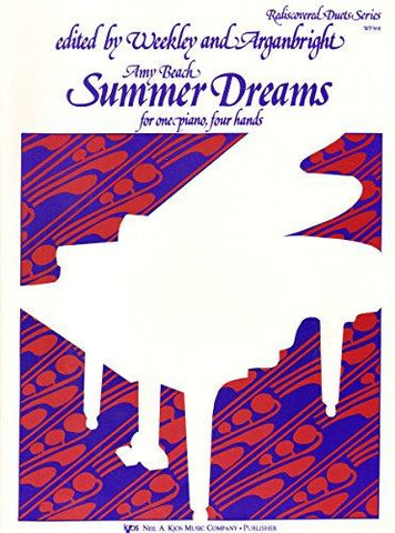 Beach, eds. Weekley and Arganbright - Summer Dreams - Piano 4 Hands