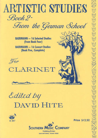 Baermann, ed. Hite – Artistic Studies Book 2: The German School – Clarinet Method