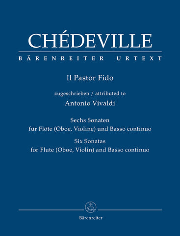 Chedeville (attributed to Vivaldi) - Il Pastor Fido, Six Sonatas - Flute (Violin) (Oboe) and Basso