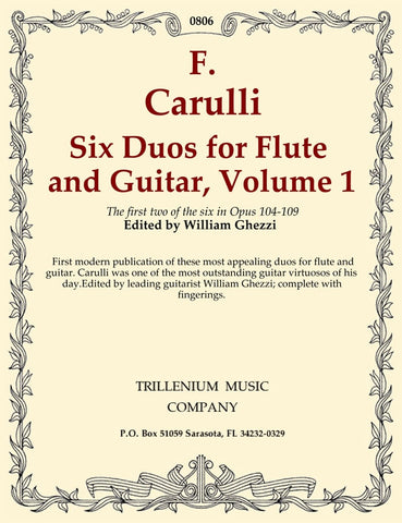 Carulli, ed. Ghezzi - Six Duos, Vol. 1: Ops. 104 and 105 - Guitar and Flute (Violin)