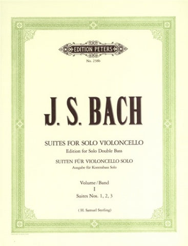Bach, tr. Sterling - Six Suites for Solo Violoncello, Vol. 1, Nos. 1-3 - Contrabass