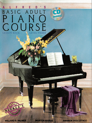 Alfred's Basic Adult: Lesson, Level 3 (w/CD) - Piano Method